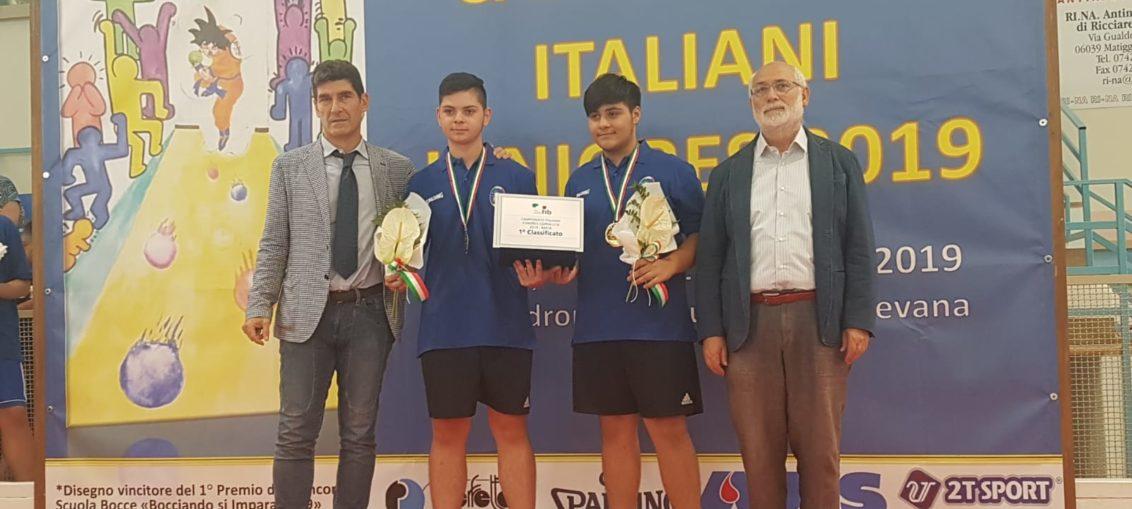 titolo italiano Under 18 bocce